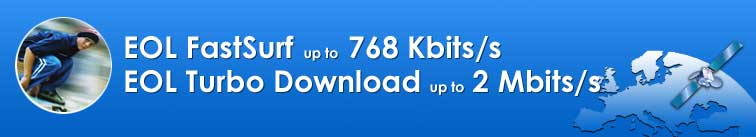 EOL FastSurf at 768/Kbs and Download up to 2 MB